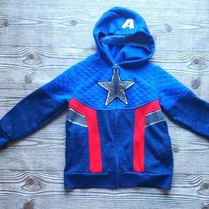 Boys Captain America zipup hoodie